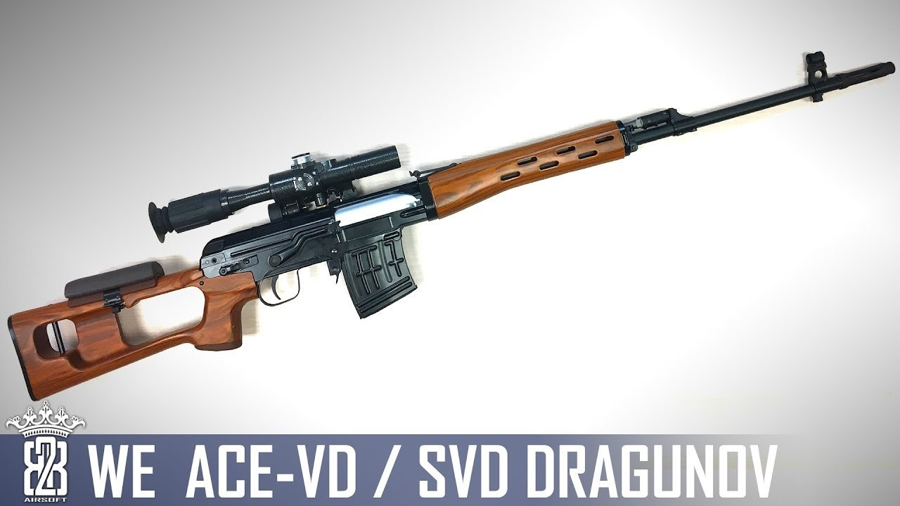 WE SVD ACE VD DRAGUNOV SNIPER Airsoft Review Allemand