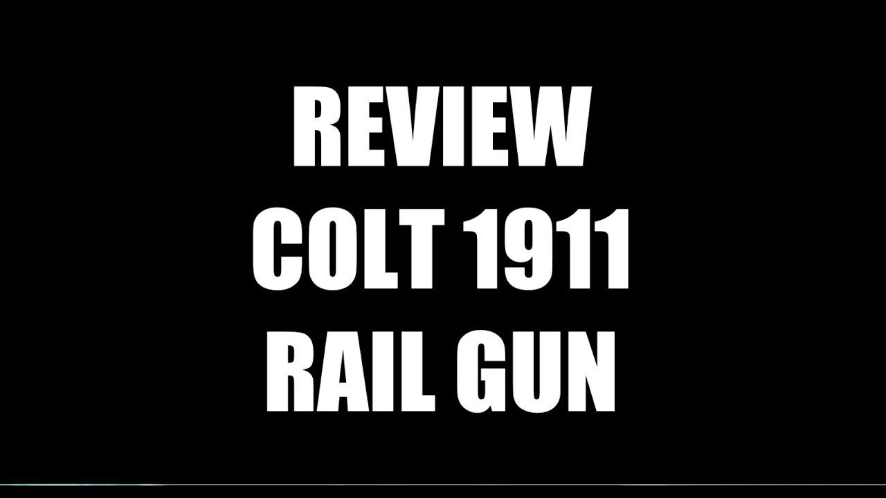 AIRSOFT REVIEW COLT 1911 RAIL GUN CO2 CYBERGUN / DESTOCKAGE GAME