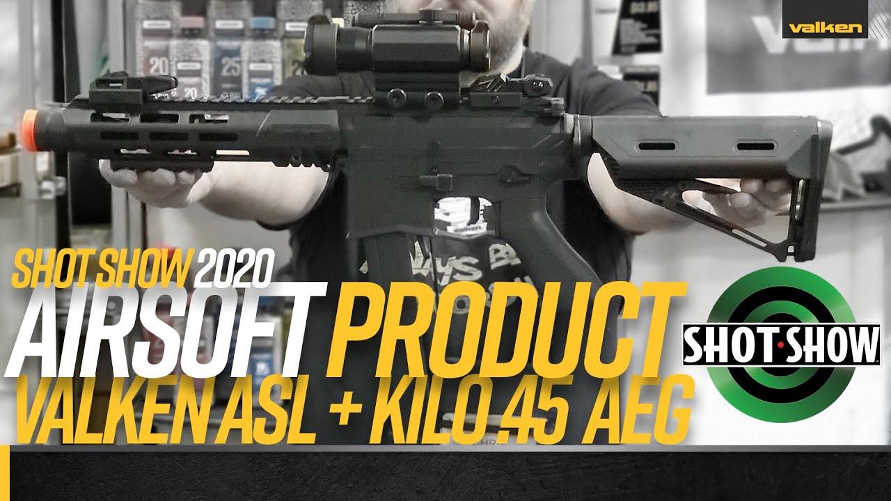 Fusil Airsoft Valken ASL + Kilo.45 – Shot Show 2020