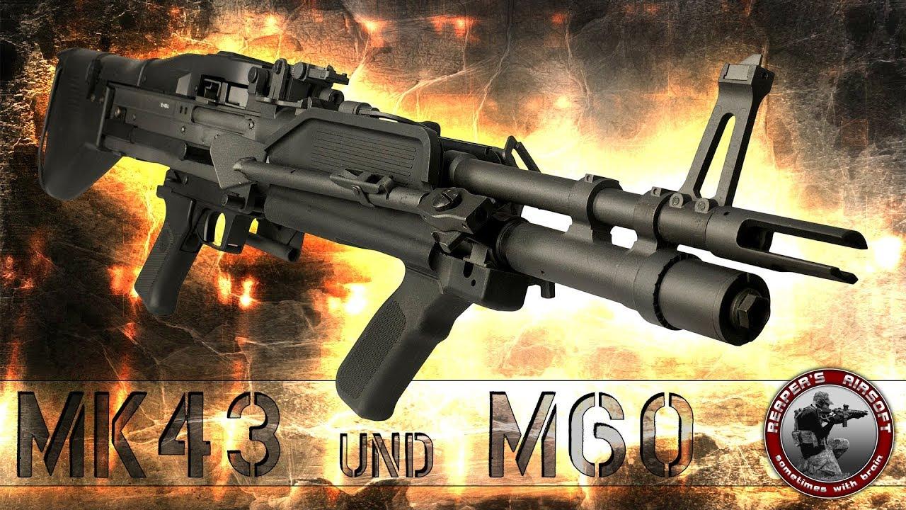 [Review] A&K MK43 et M60 – 0,5J AEG FSK 14 – 6 mm Airsoft / Softair – 4K UHD