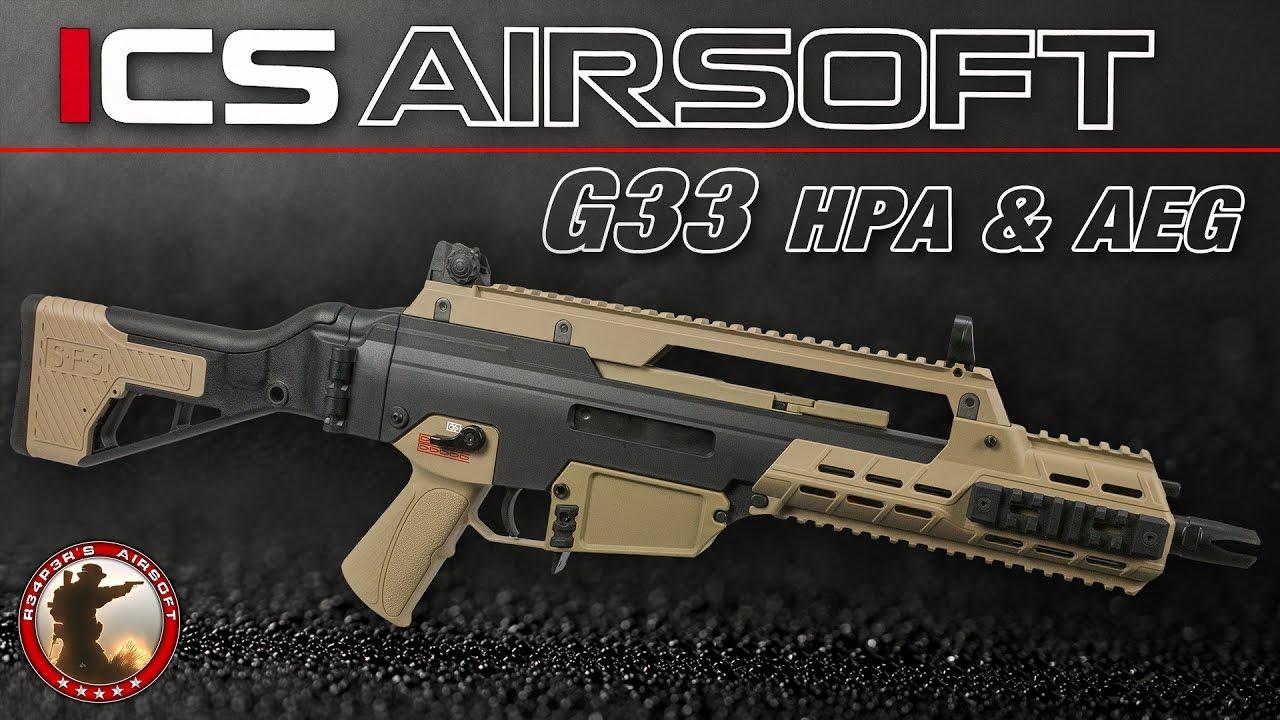 [Review] ICS G33 SAEG + HPA (Mancraft PDiK V3) 6 mm Airsoft / Softair 4K UHD