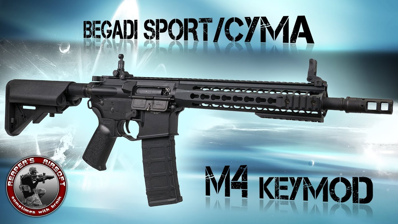 [Review] Begadi Sport / Cyma M4 Keymod Gen.2 – SAEG 6mm Airsoft / Softair – 4K UHD