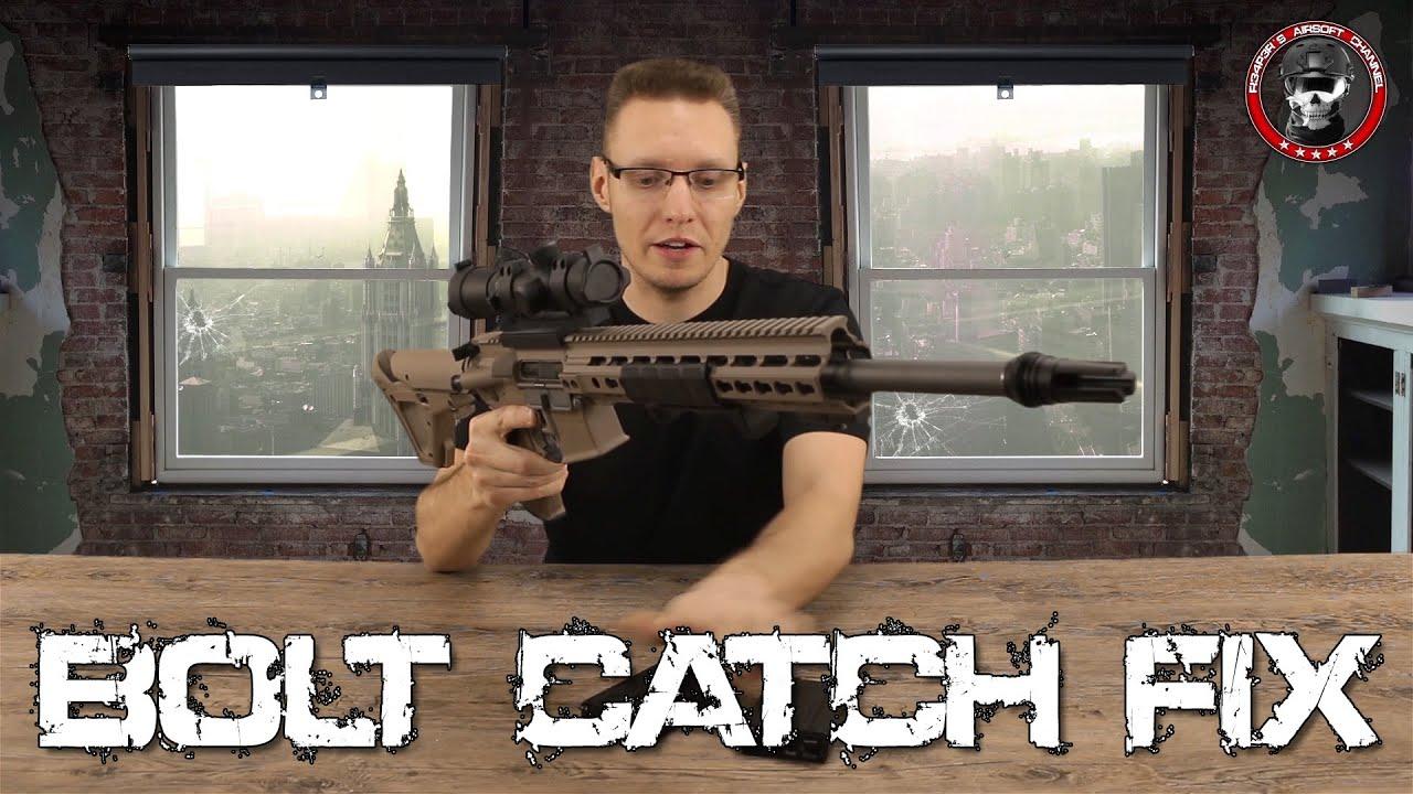 [Tech] WE M4 / M16 GBB – 100% Bolt Catch / Snap catch modification Airsoft Deutsch / German
