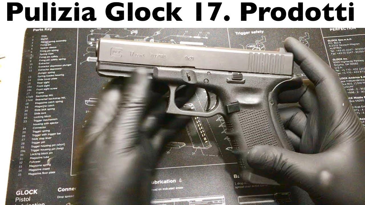 DÉMONTAGE ET NETTOYAGE DU GLOCK. Utilisation de produits tels que spiombatore. Comment nettoyer le pistolet. PISTOLET PROPRE