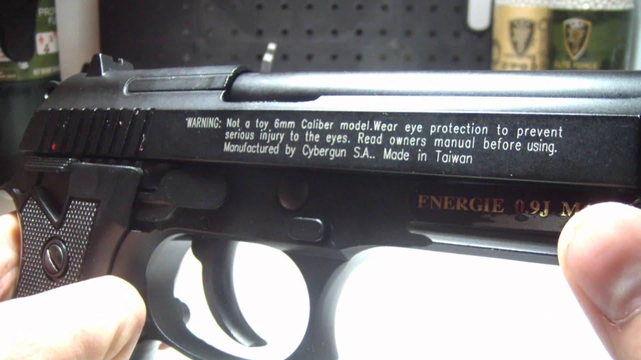 Cybergun KWC Full Metal Airsoft Taurus PT99 CO2 Review