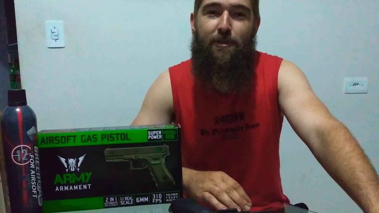 Évaluez la réplique du modèle R18 de l'armement de l'armée d'airsoft entièrement en métal de Glock!
