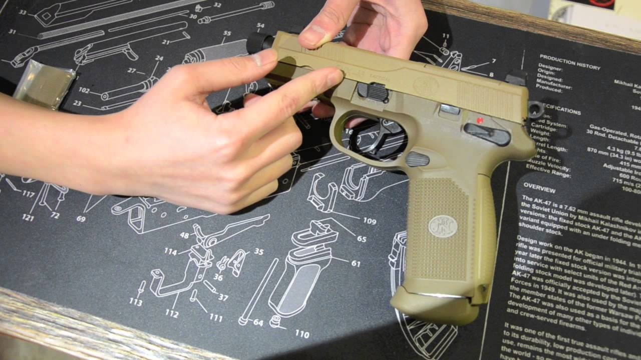 Examen rapide du pistolet Cybergun FNX45 Airsoft :)