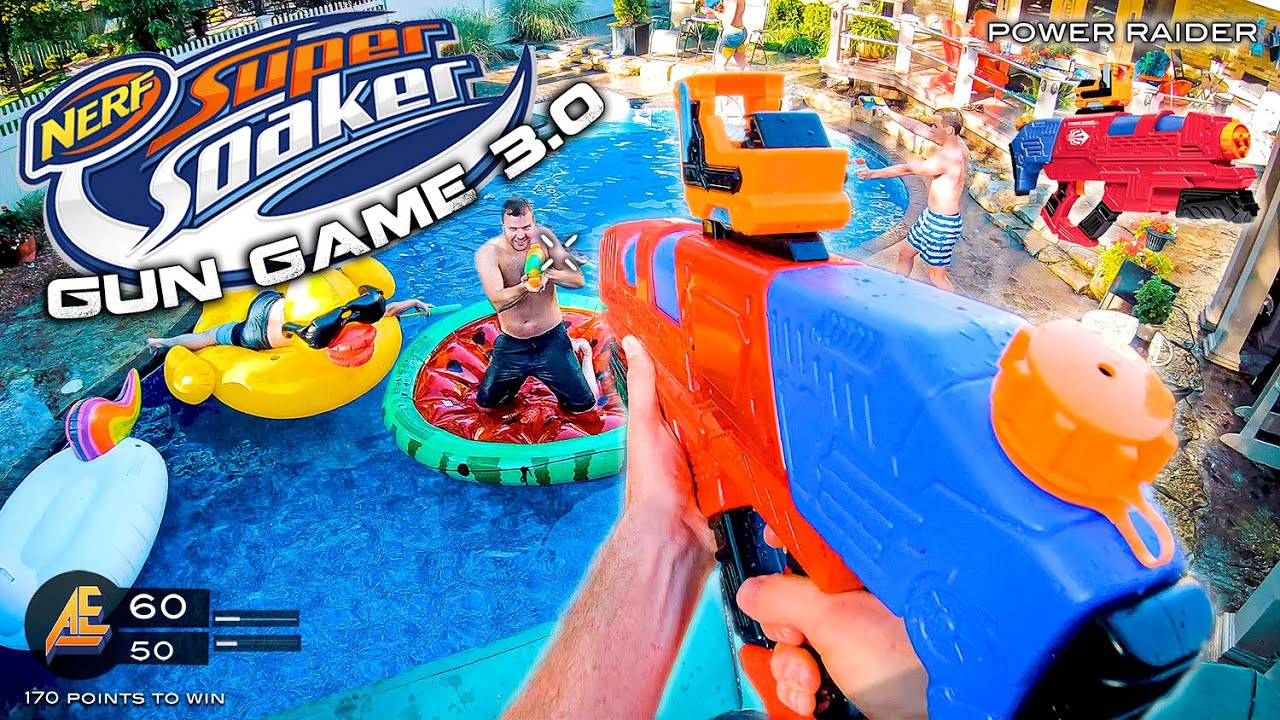NERF GUN GAME | SUPER SOAKER EDITION 3.0 (Nerf First Person Shooter)