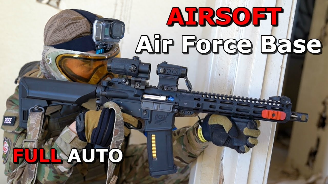 Airsoft War à ABANDONED Air Force Base! * Gameplay FULL AUTO * Bataille pour Los Angeles 2020