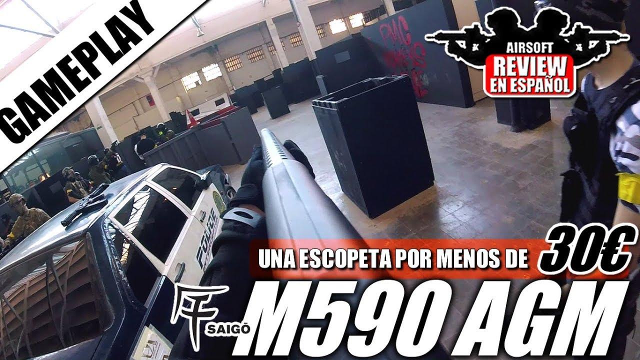 GAMEPLAY avec un SHOTCASE inférieur à 30 € M IG SAIGO M590 AGM | Revue Airsoft en espagnol