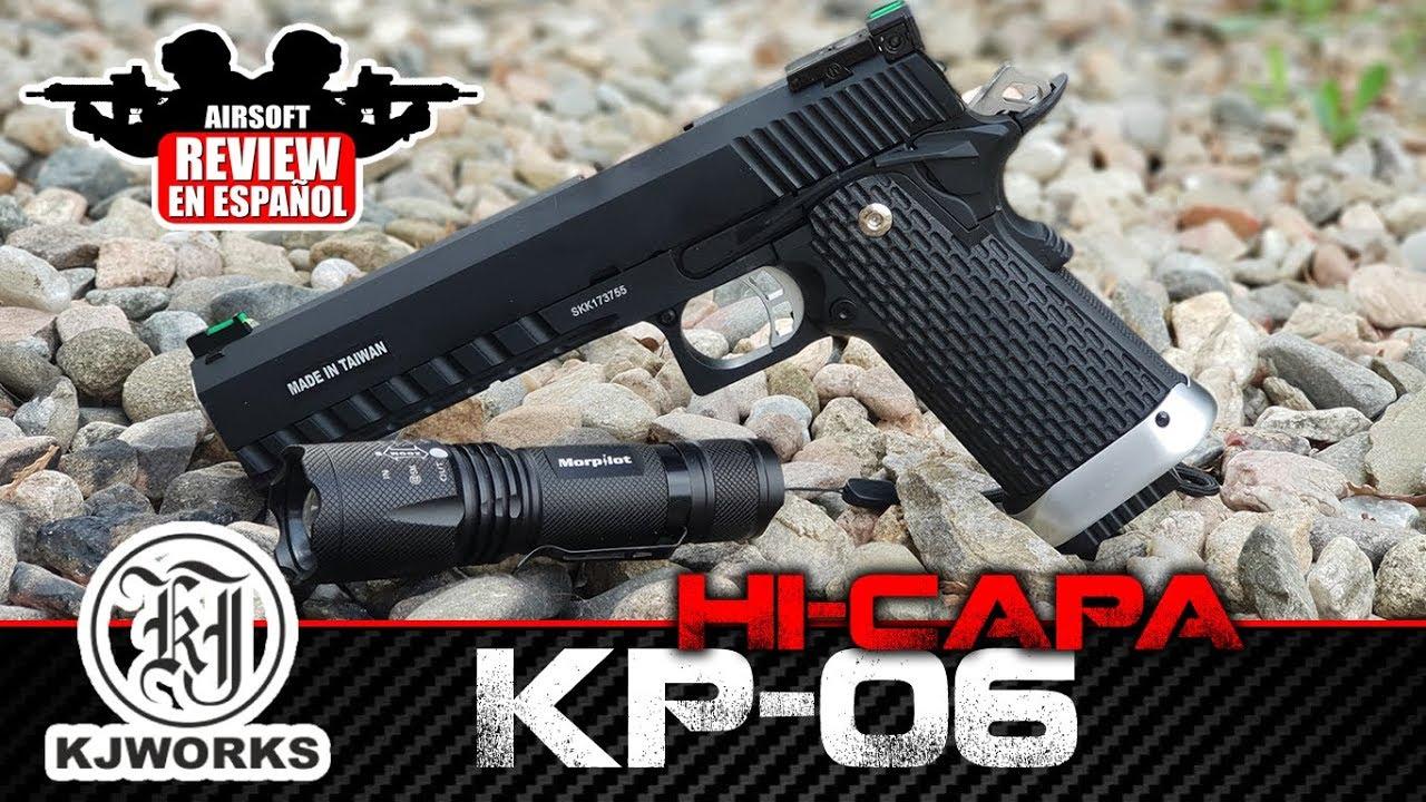 Hi-CAPA KP- 06 KJW | Airsoft Review en espagnol (Test Shot)
