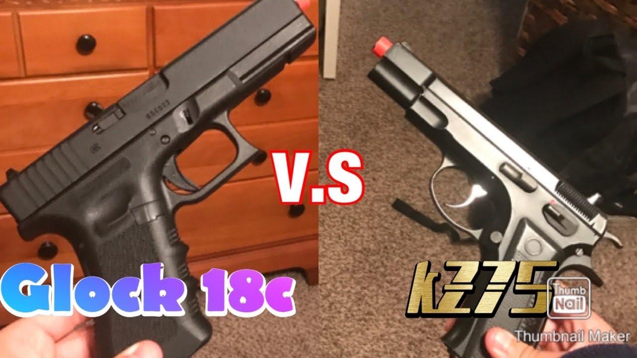 Airsoft Glock 18c V.S Kz75!