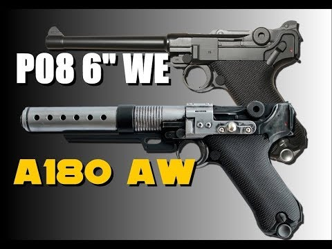 Blaster A180 AW + Luger P08 6″ WE – REVIEW AIRSOFT