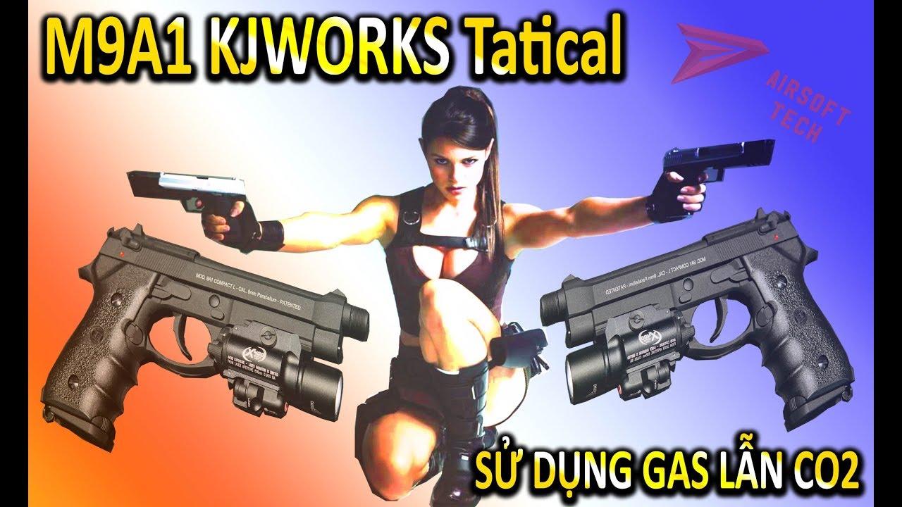 Le pistolet M9a1 utilisant du gaz et du CO2 est extrêmement puissant – Avis Airsoft de Kjworks avec Airsoft Tech