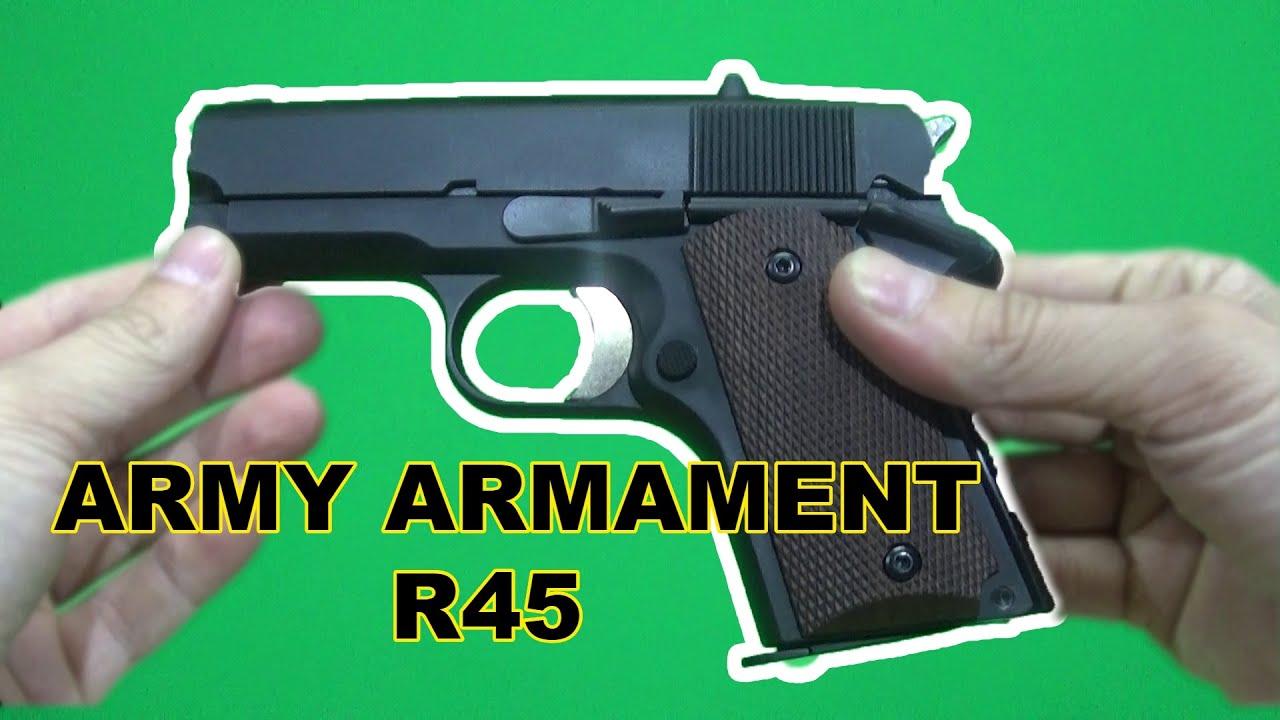 """REVUE COMPLÈTE   Armement Armée R45 """"Le pistolet COMBAT"""""""