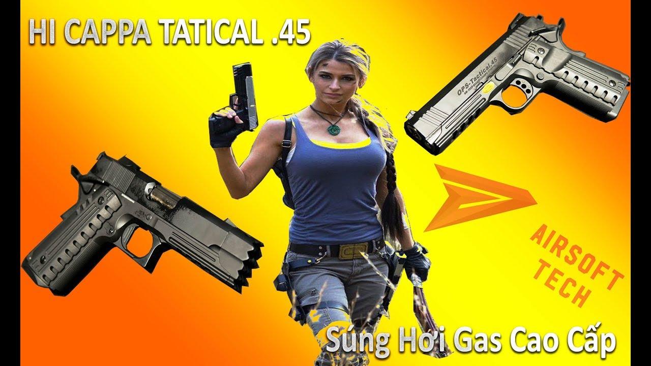 Test du pistolet Hi-Cappa 3316-3322 utilisant Ga extrêmement puissant chez Airsoft Tech