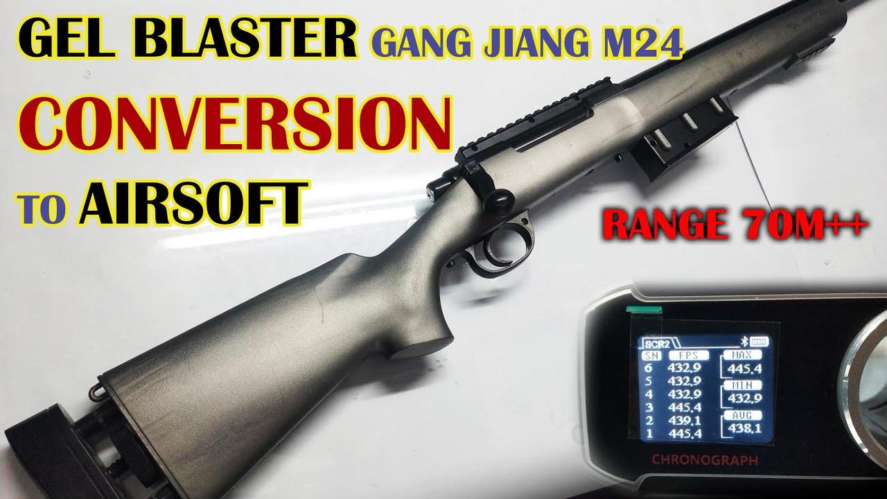Gel Blaster GANG JIANG M24 Conversion en Airsoft | Test Chrono
