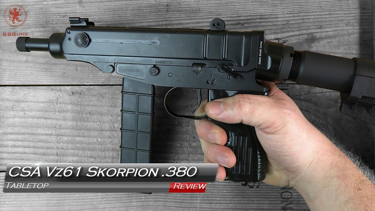CSA Czechpoint USA Vz 61 Skorpion 380 Examen de table et bande de terrain