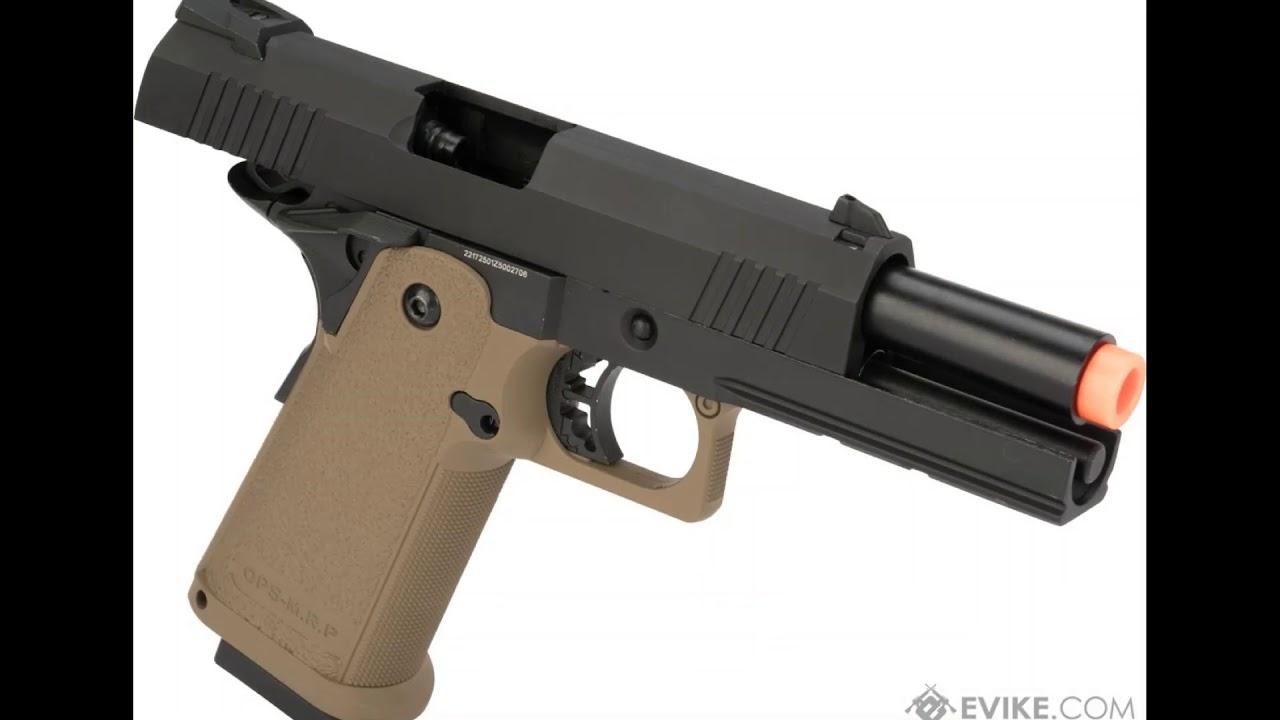 JAG Arms GM4 Series 4.3 Salut capa Gas Blowback Airsoft Pistol Review (30 secondes d'examen)