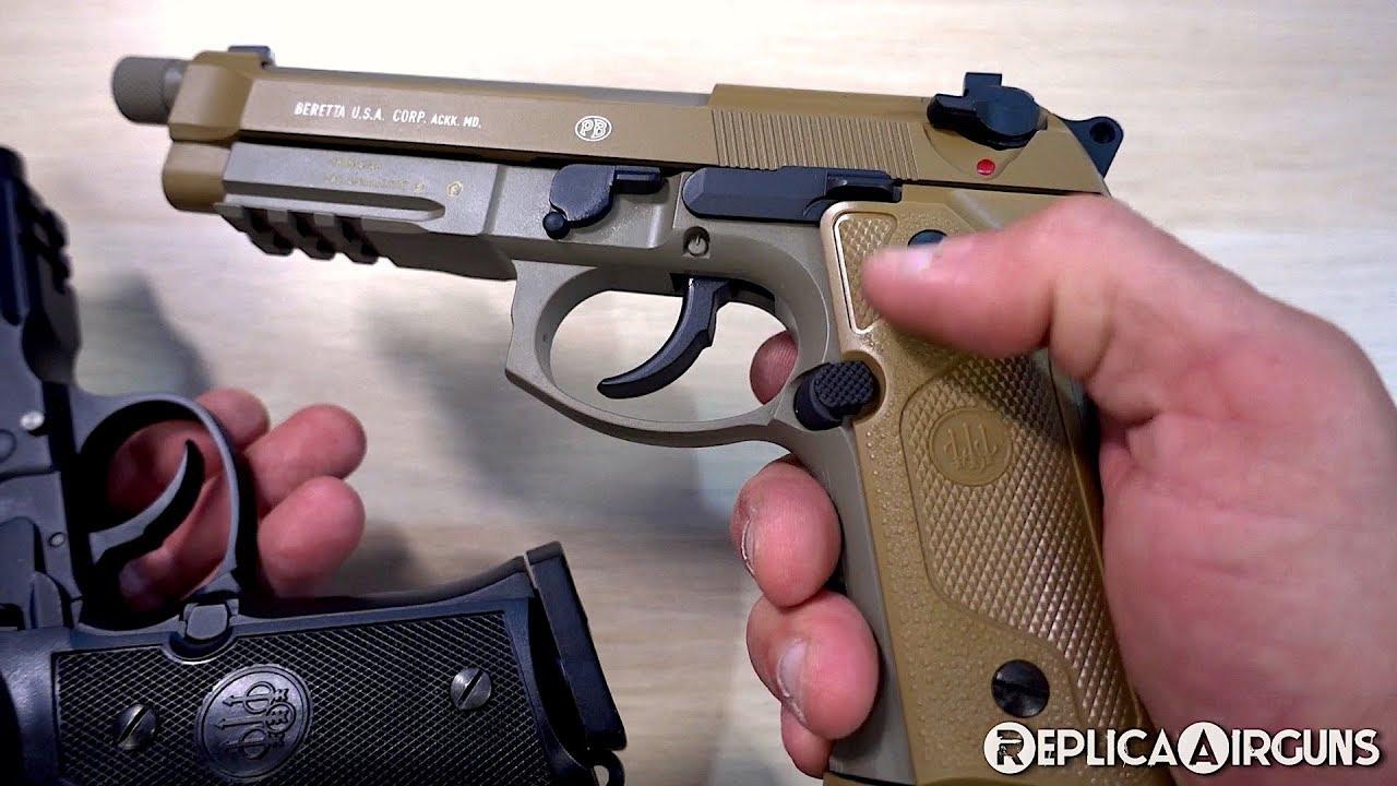 Umarex Beretta M9A3 Full Auto CO2 Blowback BB Pistol Table Top Review