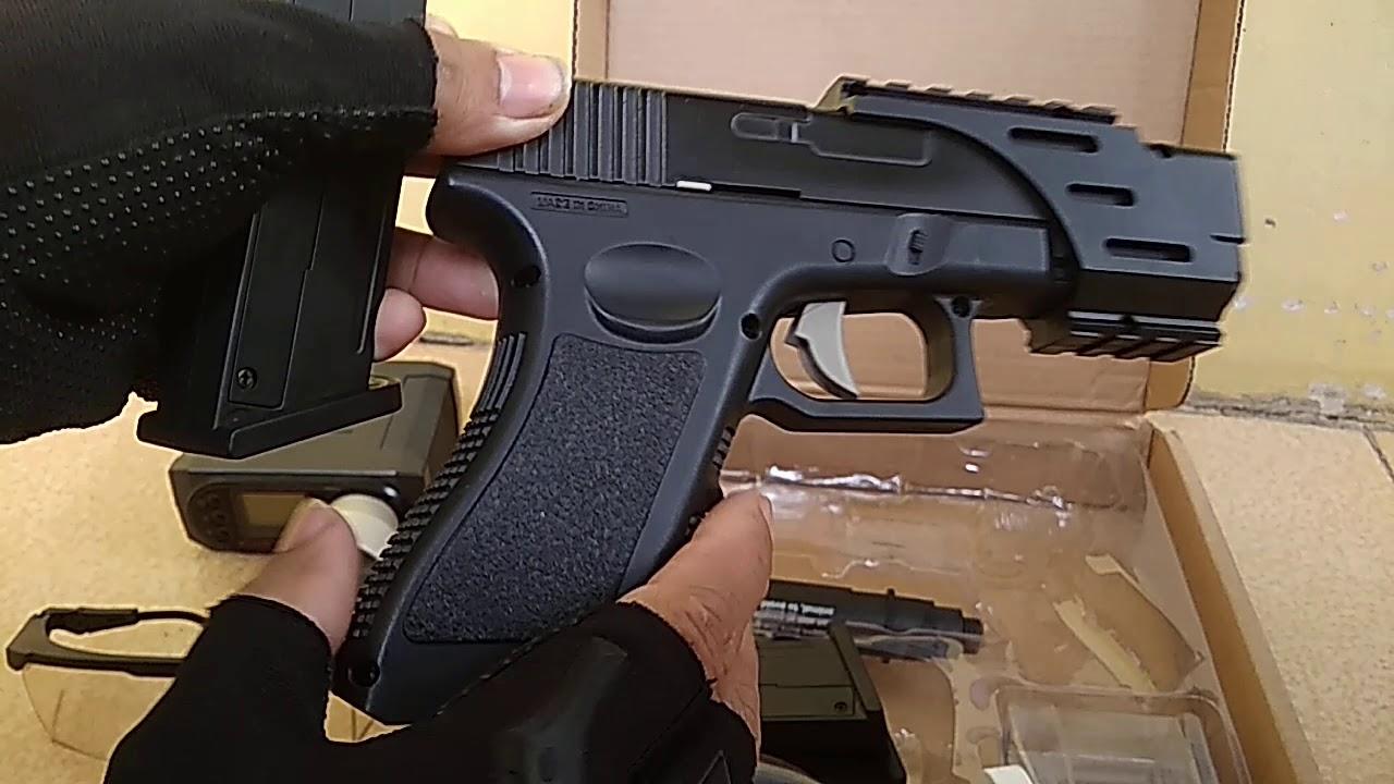 examen et test du gel d'eau blaster glock 18 Jmanual / alimenté par ressort converti en airsoft bb 6mm