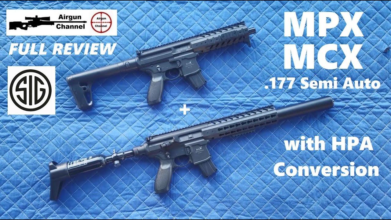 Sig Sauer MCX & MPX avec conversion HPA (examen complet) .177 carabines à air comprimé