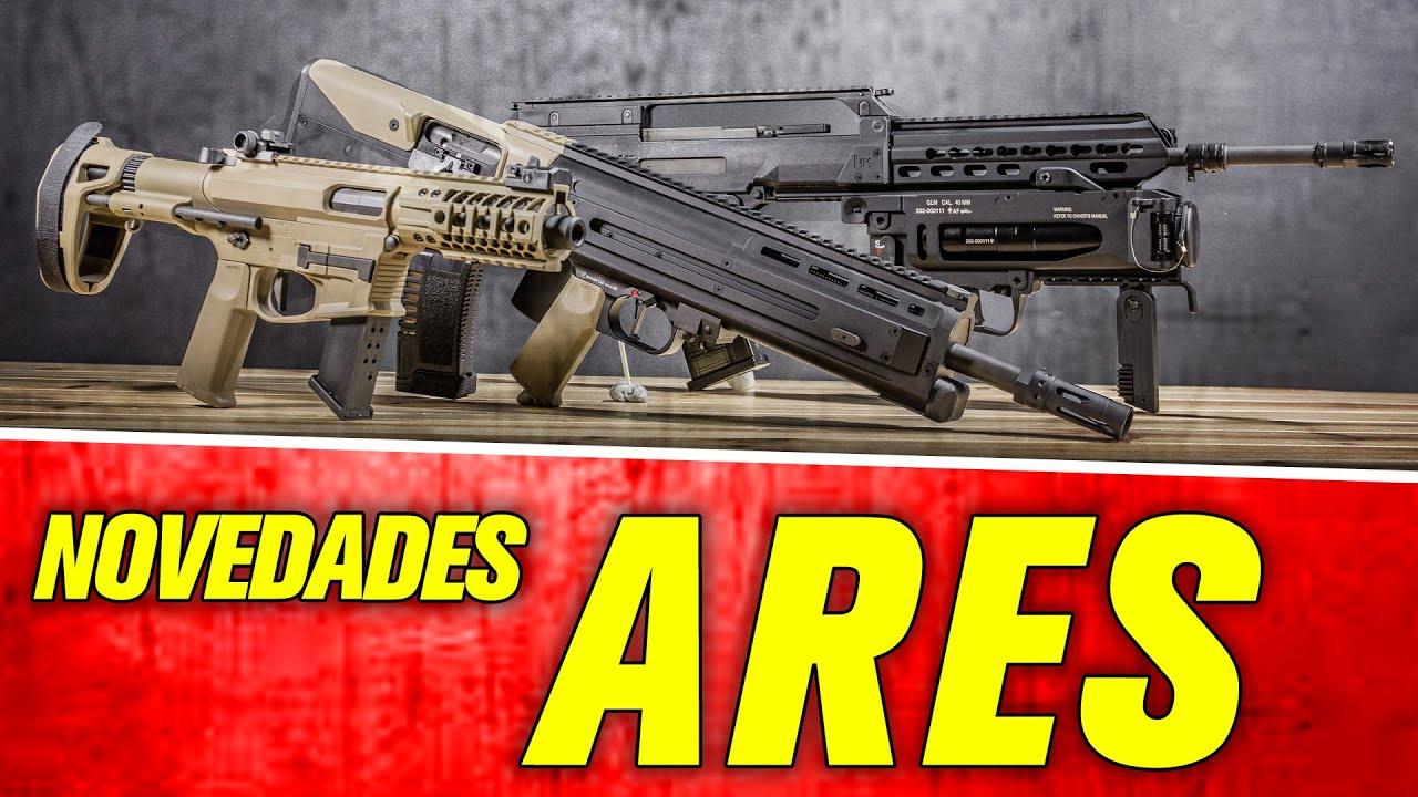 ARES AIRSOFT TRIO | G36 avec LANZAGRANADAS | SOC-AR | PISTOLET M4 45 |