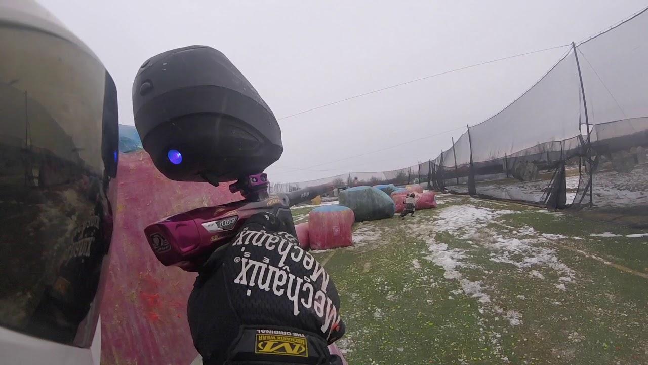 Paintball dans la neige // LVLUP Sports Paintball Park