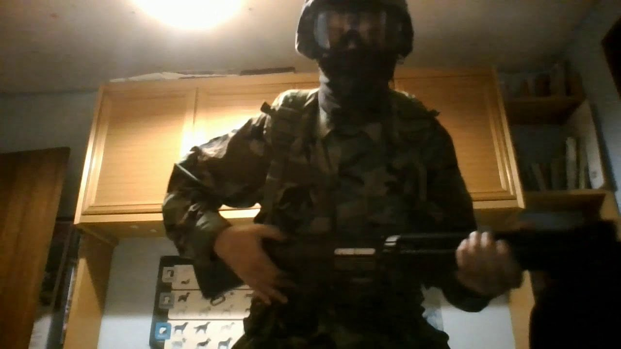 Airsoft part # 1 G&G GR25 SR25 Review Woodland BDU 90s style US army