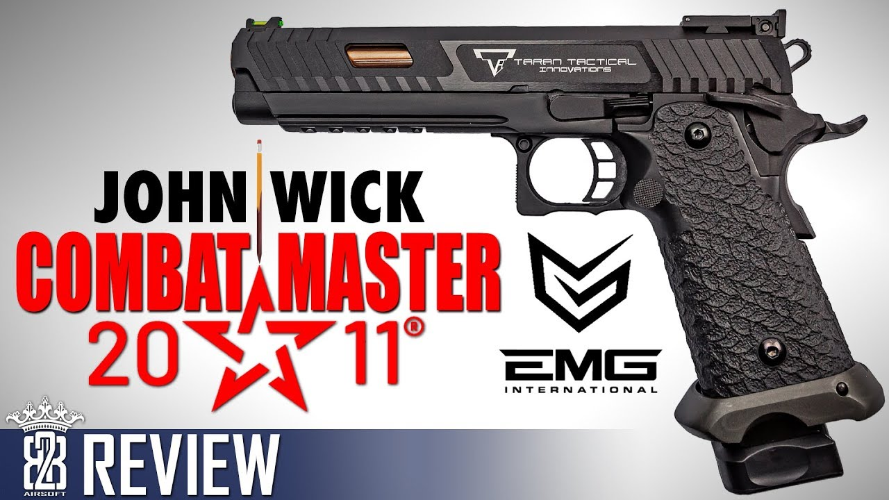 JOHN WICK 3 – EMG TTI STI Combat Master 2011 – Airsoft Review Allemand