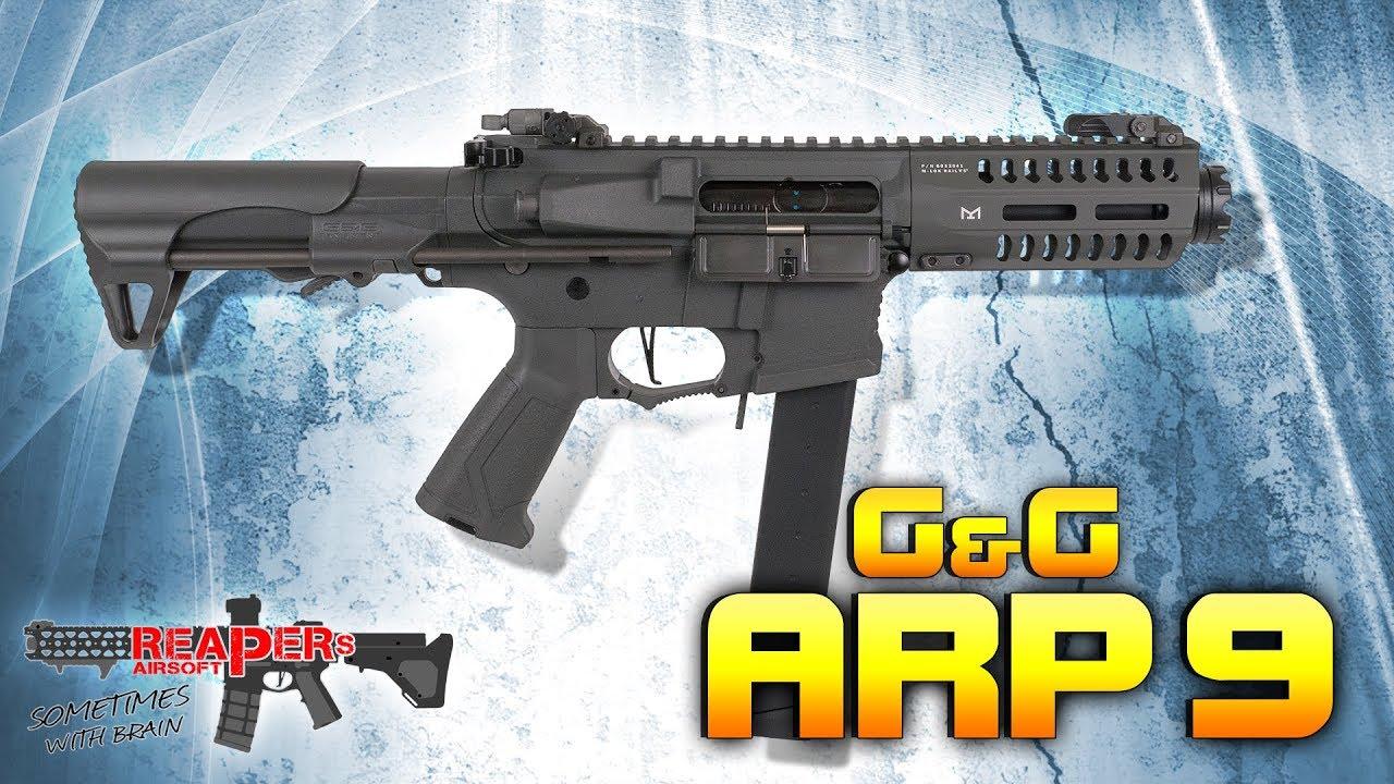 [Review] G&G ARP 9 (CQB Monster, également pour les débutants) 6 mm Airsoft / Softair 4K UHD