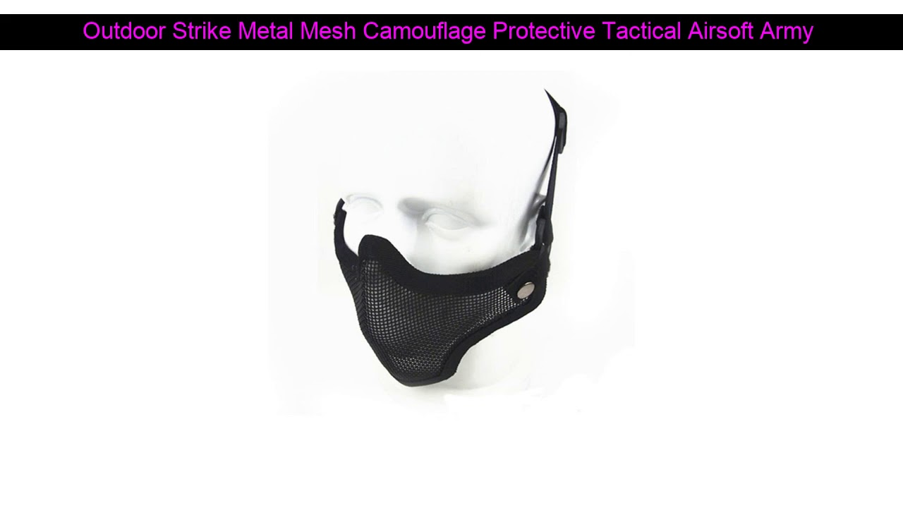 √ Révision de 0% [OFF] Outdoor Strike Metal Mesh Camouflage Protection Tactical Airsoft Army Mask 3 C