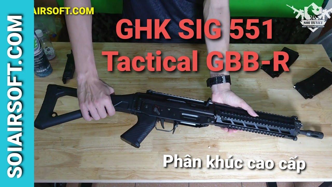 # SOIAIRSOFT.COM – GHK SIG 551 Pistolet Airsoft tactique GBB-R haut de gamme