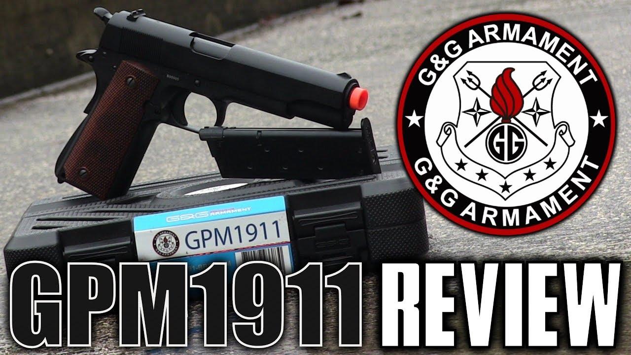 G&G GPM1911 Airsoft Pistol Review – Un classique très simple