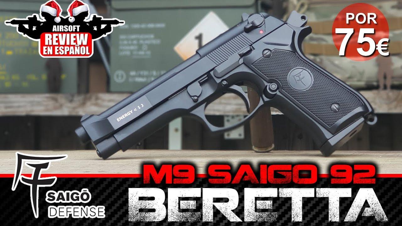 M9 BERETTA 92 SAIGO GBB   Revue Airsoft en espagnol