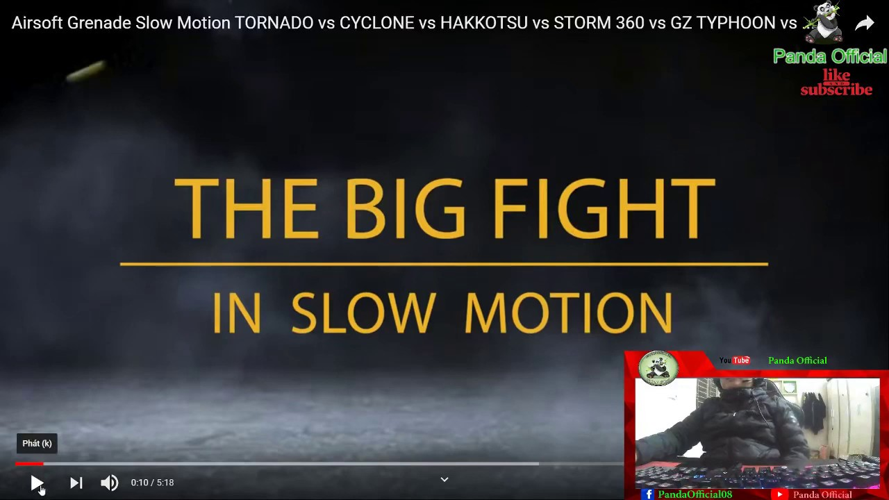 Panda Review Airsoft Grenade Slow Motion TORNADE vs CYCLONE vs HAKKOTSU vs STORM 360 vs GZ TYPHOON