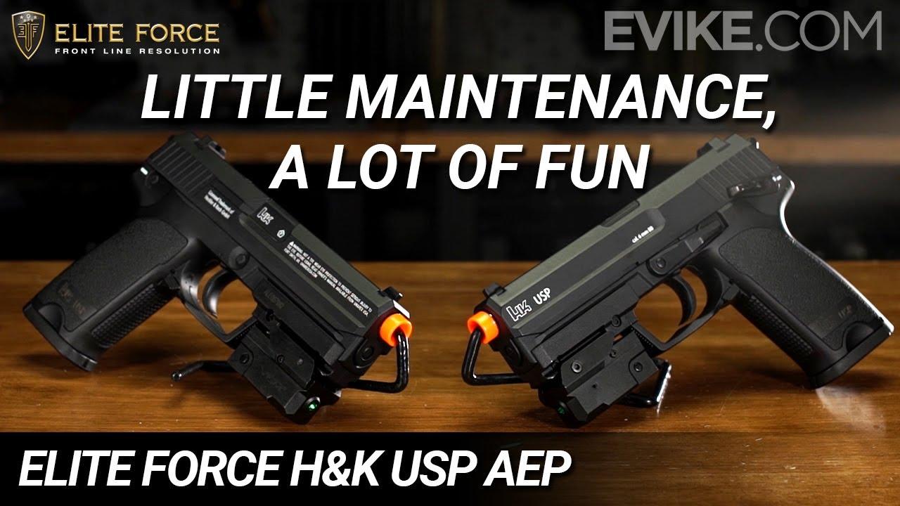 Peu d'entretien, mais beaucoup de plaisir – Elite Force H&K USP AEP – Exclusivité Evike.com