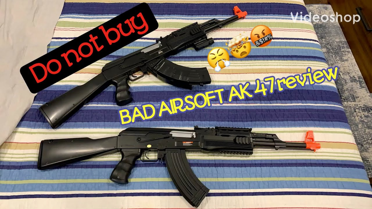 Fusil Airsoft AEG pleine puissance CYMA AK basse taille mauvaise évaluation