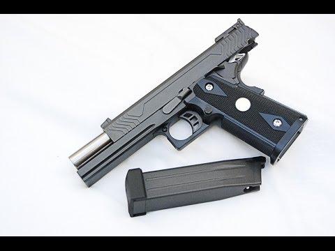 WE HI-CAPA 5.1 (K) Pistolet Airsoft GBB, test et test de tir, coup de pied réaliste et dur
