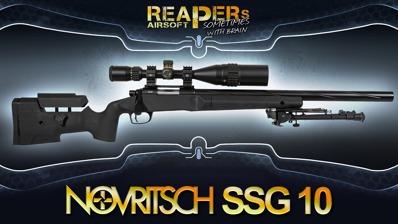 [Review] Novritsch SSG10 A1 | A2 (sniper à pression de ressort de 6 mm dans le test – VSR) Airsoft / Softair (allemand, DE)
