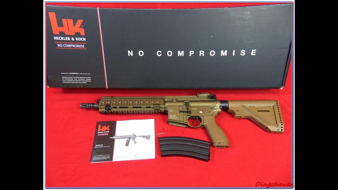 Airsoft – Umarex HK416A5 AEG shooting tests