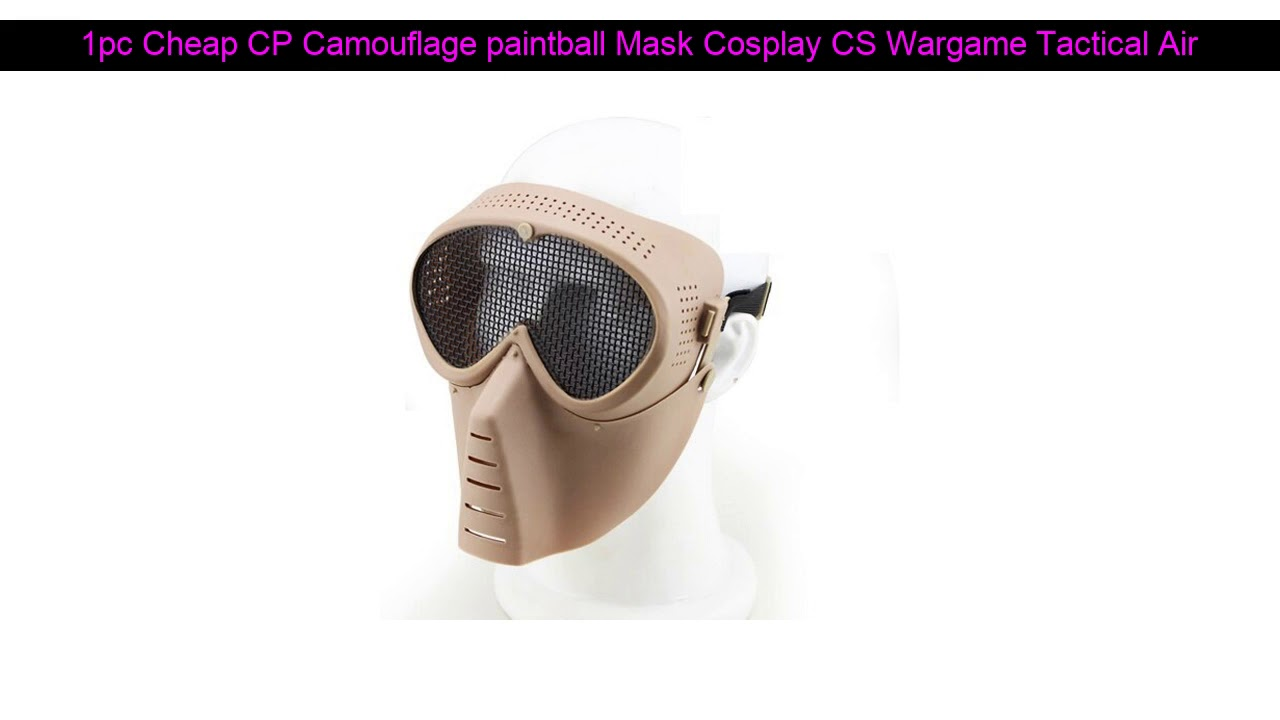 √ Révision de 0% [OFF] 1 pc Pas Cher CP Camouflage Paintball Masque Cosplay CS Wargame Tactique Airsoft Sku
