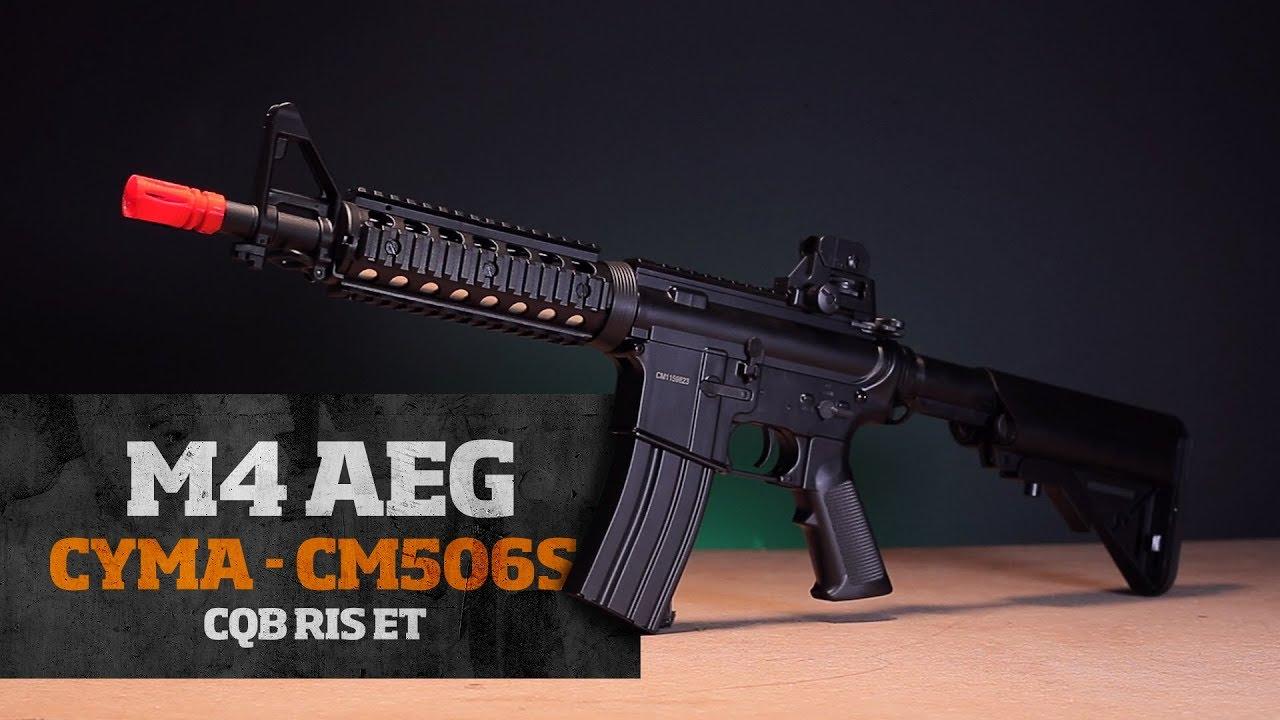 Avis sur Airsoft Rifle Test AEG M4 CQB RIS ET CM506S, par CYMA