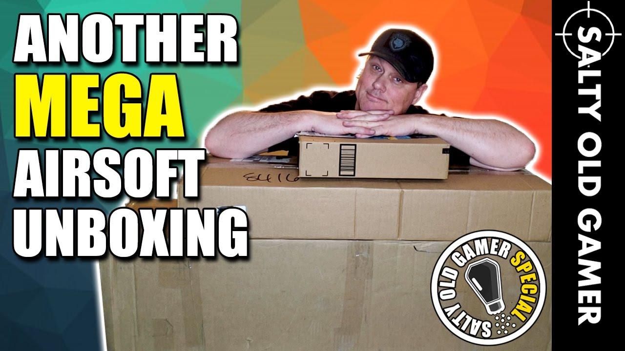 Un autre déballage Airsoft MEGA à 1500 $! | SaltyOldGamer Airsoft Special