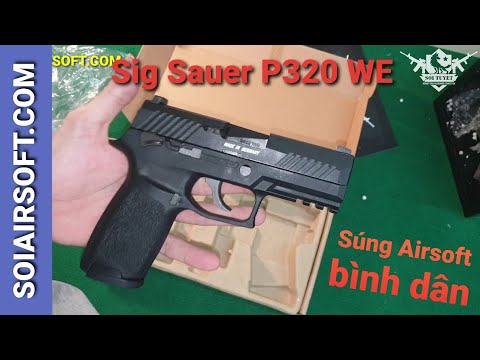 # SOIAIRSOFT.COM – Pistolets Airsoft Sig Sauer P320 WE abordables
