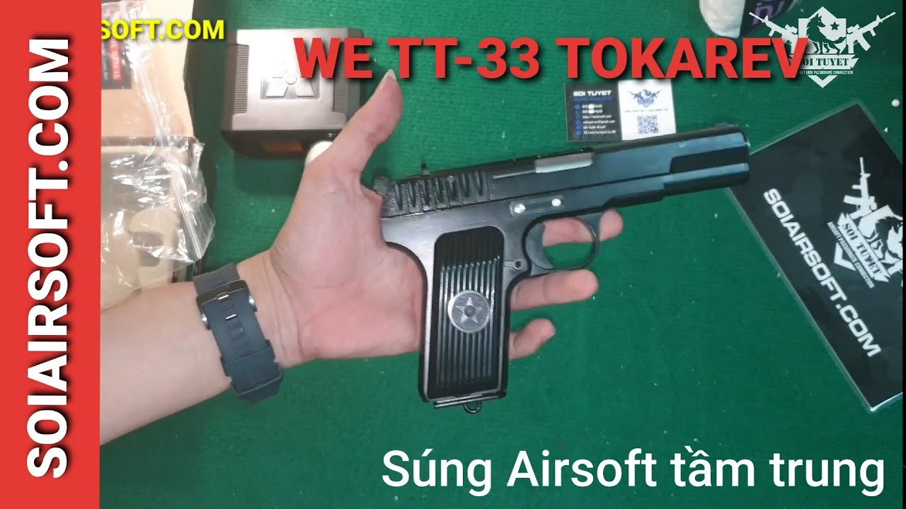 # SOIAIRSOFT.COM – WE Tokarev TT-33 (K54) pistolets airsoft abordables