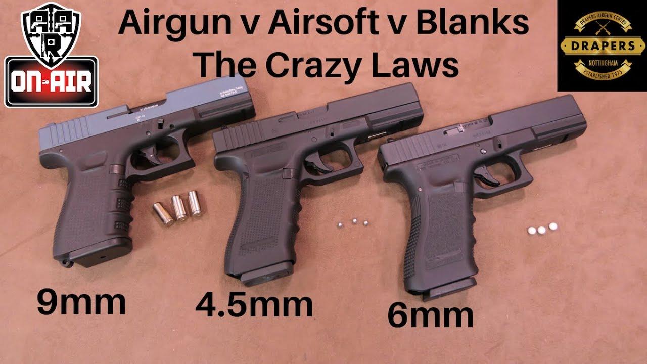 Airgun v Airsoft v Blanks et la loi