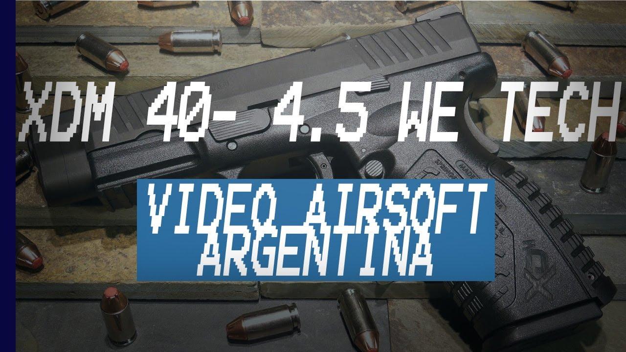 (Airsoft) XDM 40- 4.5 de WE Tech REVIEW