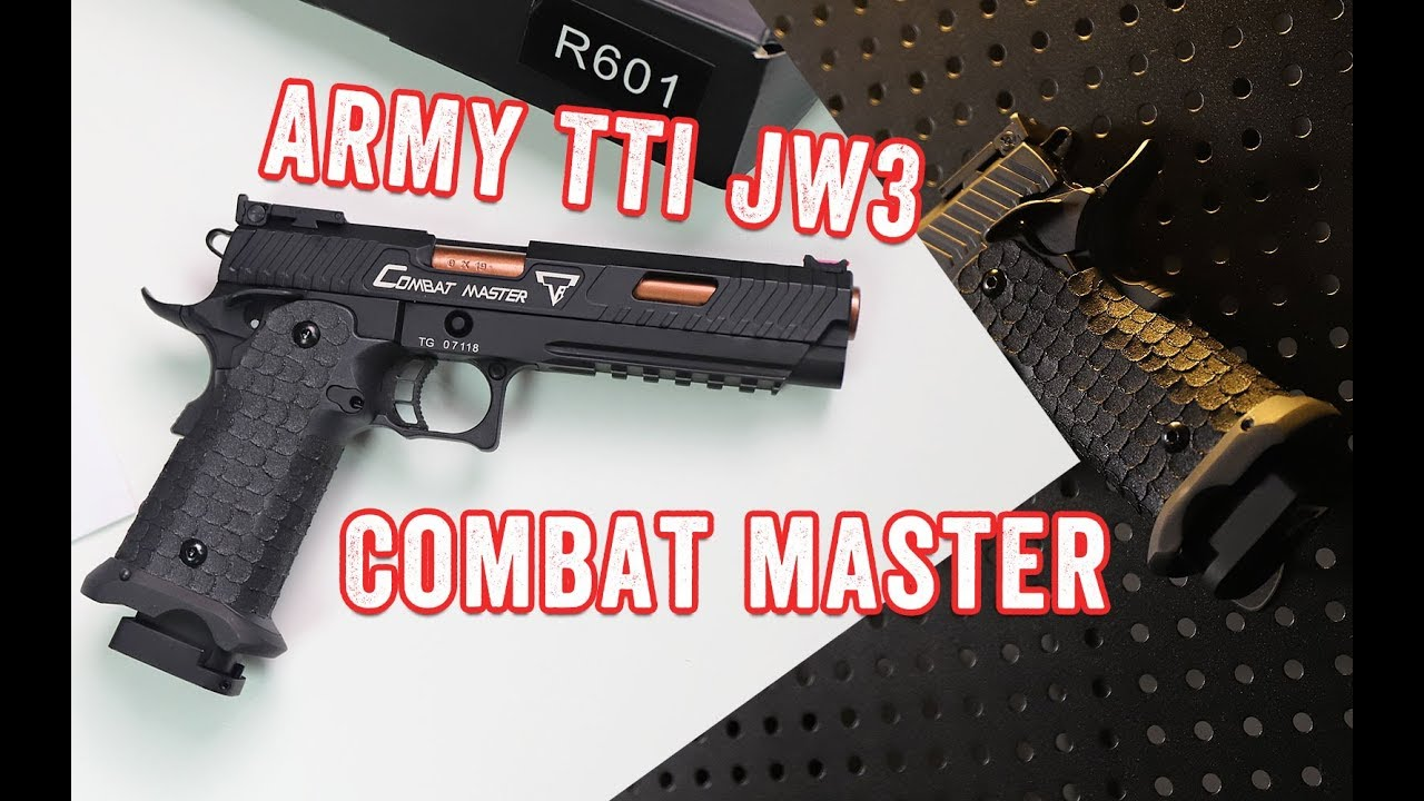 Armée TTI Licensed Combat Master JW3 STI 2011 GBB Pistolet Army R601 Unboxing Review