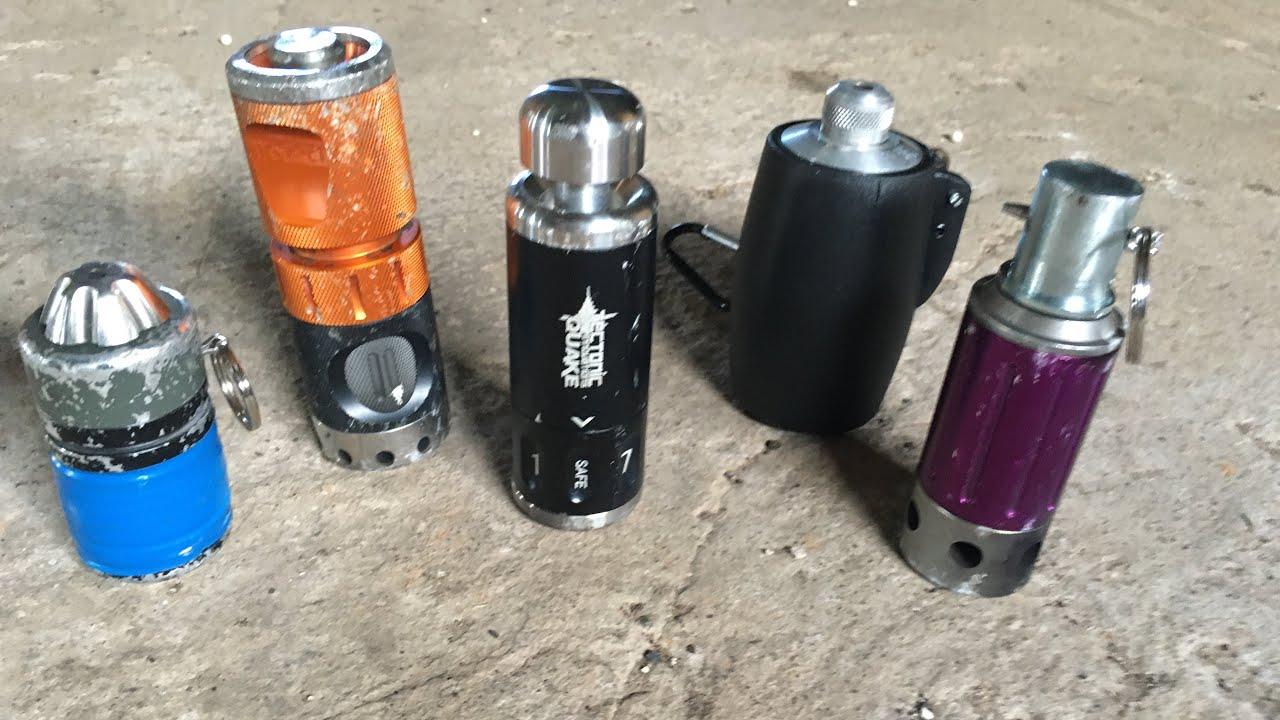 Quake Impact Grenade par rapport aux autres grenades airsoft